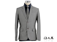 【男人幫】高雅奢華銀灰窄版劍領雙扣西裝外套 (C5319)