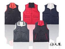 【男人幫】P5888*全素面百搭基本款【雙面穿鋪棉背心】黑色(三口袋)2L