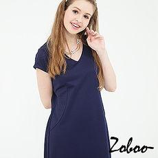 【Zoboo】简约V领素面修身洋装,小礼服,晚宴服,心机洋装(Q5028)