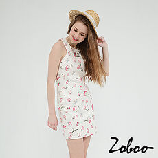【Zoboo】削背繞頸貼身連身裙小禮服,晚宴服,心機洋裝(Q5035)