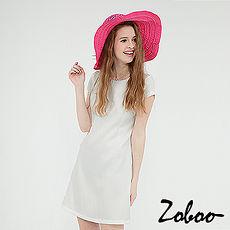 【Zoboo】素面圆领宽摆连身裙 (Q5046)