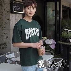 【男人幫】韓系BOSTON短袖T恤4L