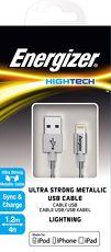 【Energizer 勁量】120cm Apple Lightning 金屬充電傳輸線 MFI 認證