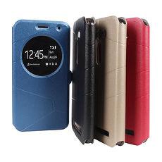 【Myshell】ASUS Zenfone2 Laser5.0 來電顯示隱磁可立皮套金