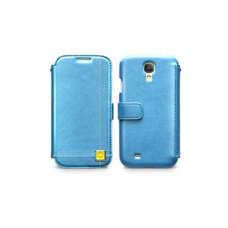 ZENUS SAMSUNG S4 愛情日記 書本式皮套 藍色