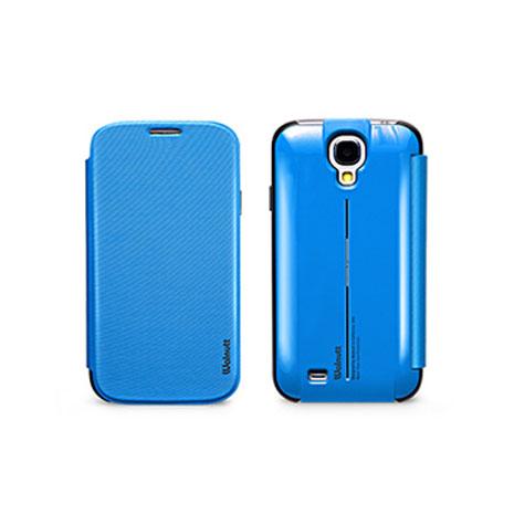ZENUS&WALNUTT SAMSUNG S4 多功能站立皮套 藍色