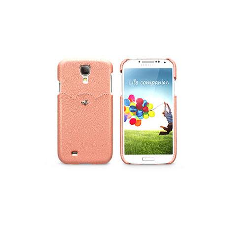 ZENUS SAMSUNG S4 粉嫩甜美 皮革硬式保護殼 粉紅