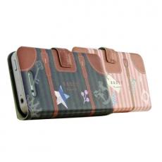 HAPPYMORI SAMSUNG GALAXY J N075 旅行托特書本式皮套粉紅
