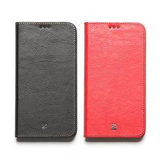ZENUS ASUS ZenFone2 5.5吋 簡約牛皮 書本式皮套紅色