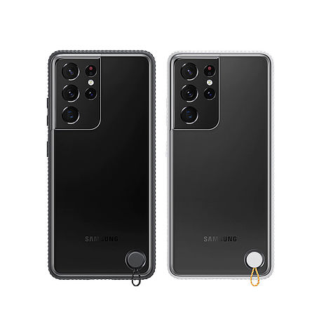 SAMSUNG Galaxy S21 Ultra 5G 原廠透明防撞背蓋(台灣公司貨)黑色
