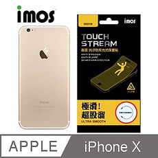 【iMOS Touch Stream】蘋果Apple iPhone X  電競霧面保護貼(背面)
