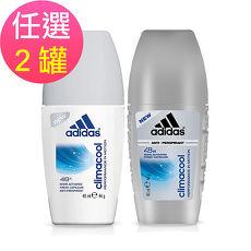 adidas愛迪達 男用/女用動感香氛制汗爽身滾珠-任選2罐(40ml/罐)-12特賣