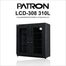寶藏閣 PATRON LCD-308 微電腦數字型電子防潮箱 301公升 公司貨