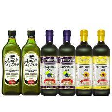 AMOR 初榨橄欖油+帆聖西歐 葡萄籽油+葵花油 特價組(1000mlx6瓶)