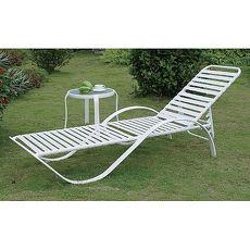 鋁合金一字板帶躺椅茶几組