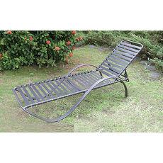 鋁合金一字板帶躺椅