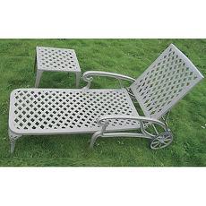 鋁合金編織躺椅茶几組