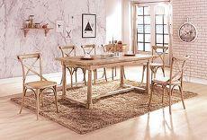 安格斯尼7.3尺白橡全實木餐桌(不含餐椅)
