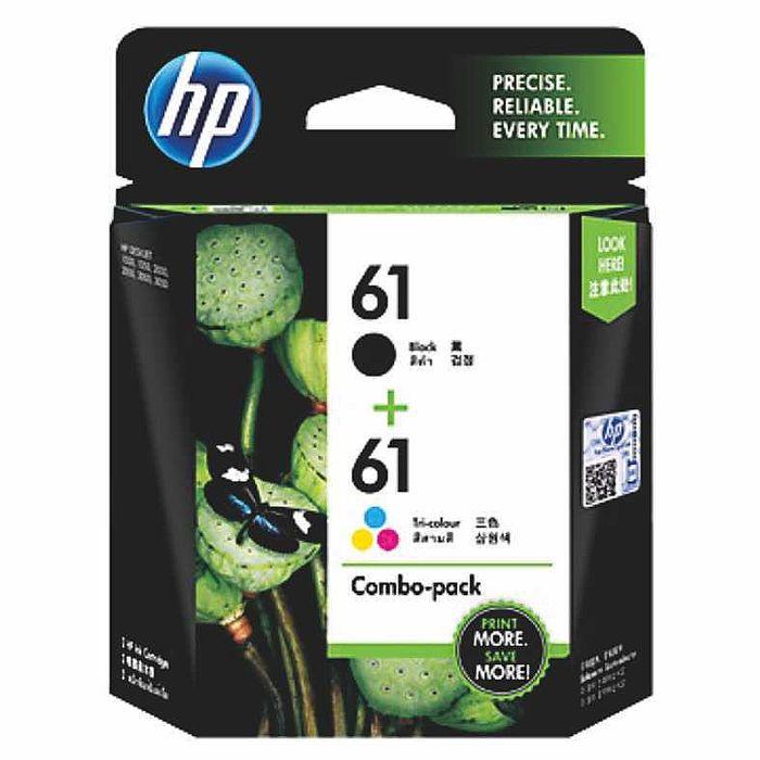 (客訂)HP CR311AA No.61 原廠黑色+彩色墨水匣組合包