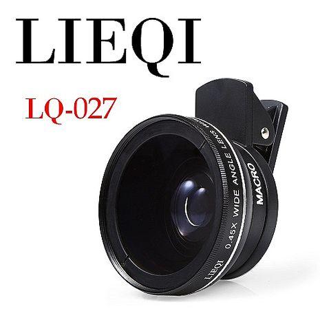 《LIEQI》LQ-027 0.45x廣角 10x微距 手機鏡頭 二合一鏡頭