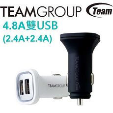 Team 十銓 WD01 4.8A USB雙孔 車用充電器白色