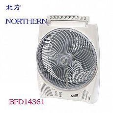 德國 北方 NORTHERN 14吋風罩充電式DC節能箱扇(LED照明燈) BFD14361
