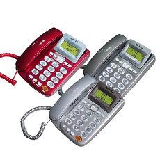 台灣哈理 三洋 SANYO 來電顯示有線電話 TEL-805  紅, 銀, 灰3色