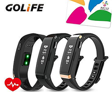 GOLiFE Care-X HR 智慧悠遊心率手環  黑 / 金黑色金黑