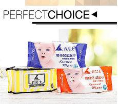 肯尼士 嬰幼兒高品質無菌純水柔濕巾 紅8入
