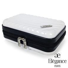 法國Elegance 硬殼旅行航空過夜包 盥洗收納包 -白