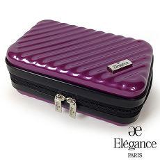 法國Elegance 硬殼旅行航空過夜包 盥洗收納包 -紫