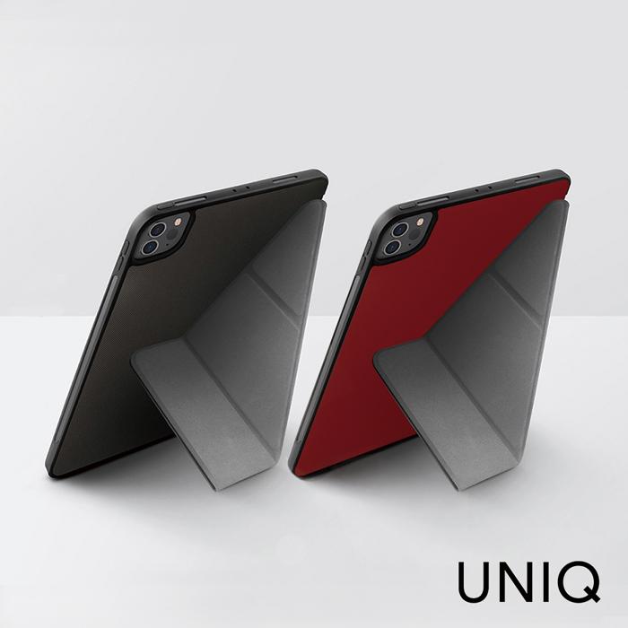 UNIQ Rigor iPad Pro 11吋(2020 2代) 輕薄帶筆槽支持無線充保護套紅色