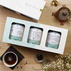 【TCHEERS】Simple大吉嶺紅茶/鐵觀音/碧螺春 茶包禮盒 3g*16包/罐 X3罐入
