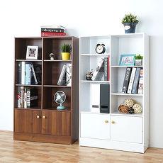 【特賣】Homelike 戴爾八格二門書櫃(二色任選)