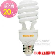 東亞照明 24W半螺型燈泡【台灣製造 】黃光20入