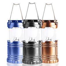 AWANA 太陽能LED伸縮露營燈(中型)x1台(三色可選)