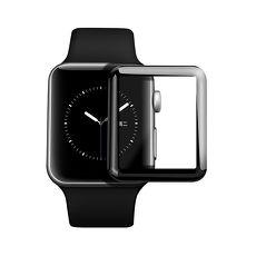 Apple Watch 3D曲面全覆蓋超薄鋼化保護貼(42mm)-黑色