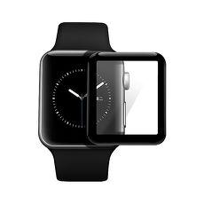 Apple Watch 全膠軟邊3D曲面全覆蓋超薄鋼化保護貼-38mm/黑色