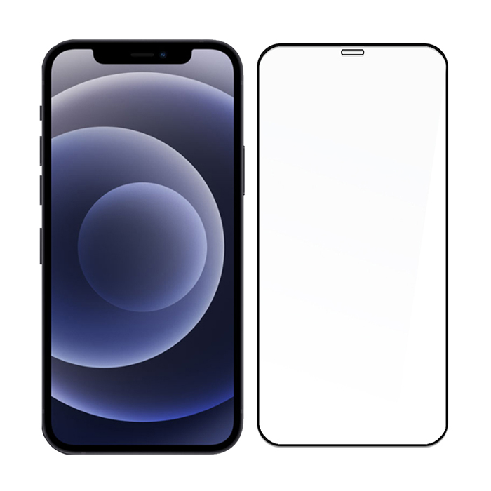 SSTAR iPhone 12/iPhone 12 Pro (6.1吋)2.5D 全膠滿版日規鋼化玻璃保護貼-黑色