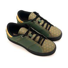 Unisysh 中国风烫金花朵休闲鞋(绿)