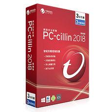 Trend Micro 趨勢科技 PC-cillin 2018 三年三機標準版 [序號下載版]