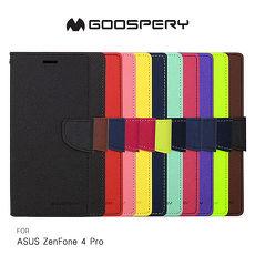 GOOSPERY ASUS ZenFone 4 Pro ZS551KL FANCY 雙色皮套黑黑