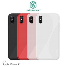 NILLKIN Apple iPhone X 柔韌 II 保護殼紅色