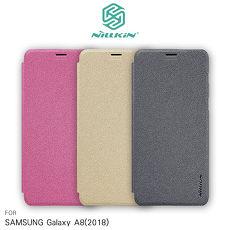 NILLKIN SAMSUNG Galaxy A8(2018) 星音勻皮套香檳金