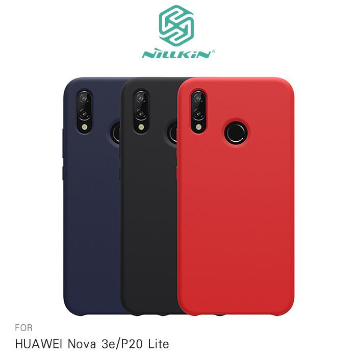 NILLKIN HUAWEI Nova 3e / P20 Lite 感系列液態矽膠殼紅色