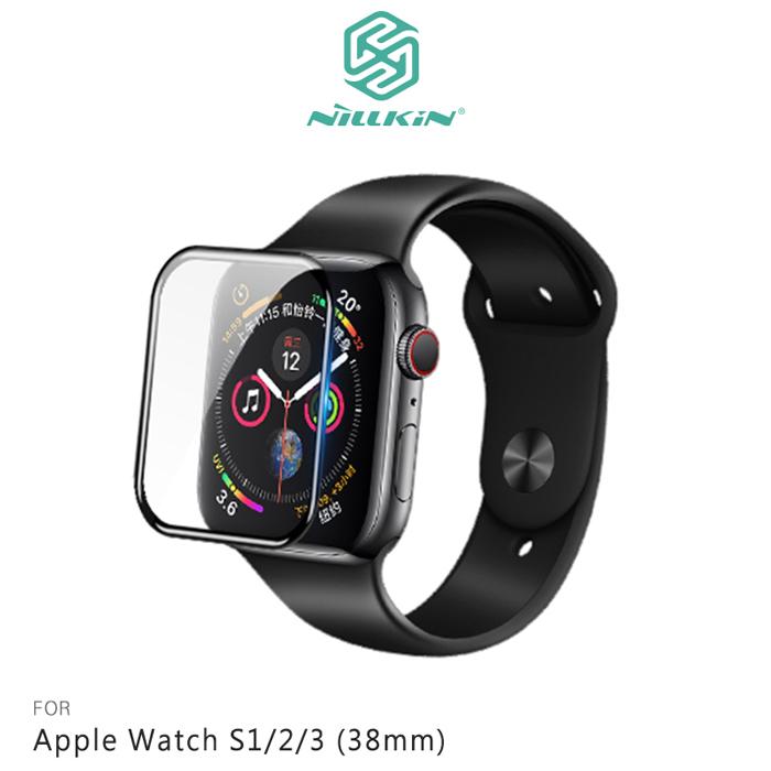 NILLKIN Apple Watch S1/2/3 (38mm) 3D AW+ 滿版玻璃貼