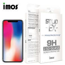 iMOS iPhoneX/XS 2.5D平面滿版玻璃 0.4mm 美觀版、黑邊