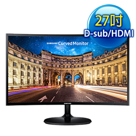 SAMSUNG三星 C27F390FHE 27型 電競曲面 (1920x1080/VGA+HDMI+Headphone/薄邊框11.9mm)