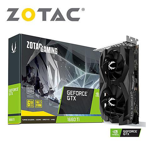 ZOTAC 索泰 GAMING GeForce GTX 1660 Ti Twin Fan 顯示卡