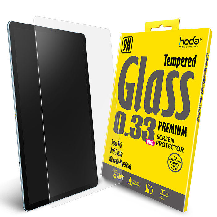 hoda【iPad Mini 4/5 (2019適用)】全透明高透光滿版9H鋼化玻璃保護貼